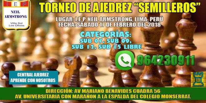 "Lima, Per,- TORNEO DE AJEDREZ ""SEMILLEROS"", 17 feb 2018"